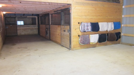 A few of the 20 stalls at the farm
