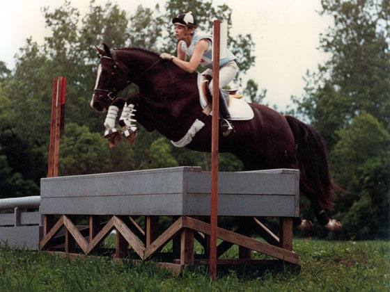 Laura and Thor Eventing, circa 1990