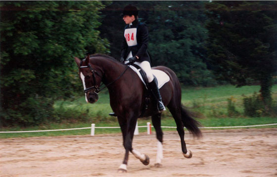 Laura and Thor compete in dressage