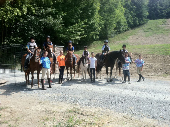 Campers take a moment to pose for the camera