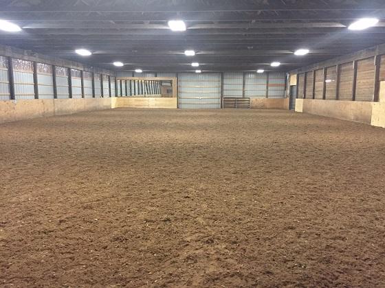 Completely renovated indoor arena